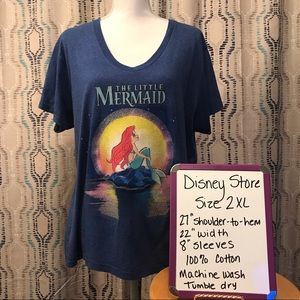 Disney Store Little Mermaid SS Tee-Size 2XL